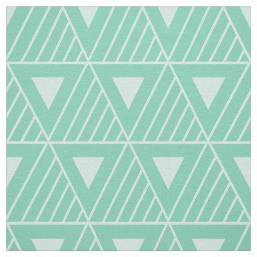 Mint Triangles Modern Pattern Custom Background Fabric