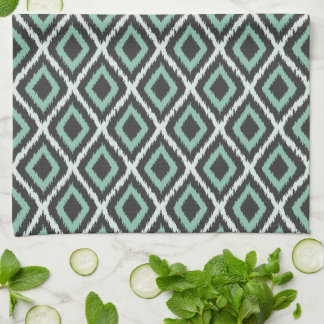 Mint Tribal Ikat Tea Towel