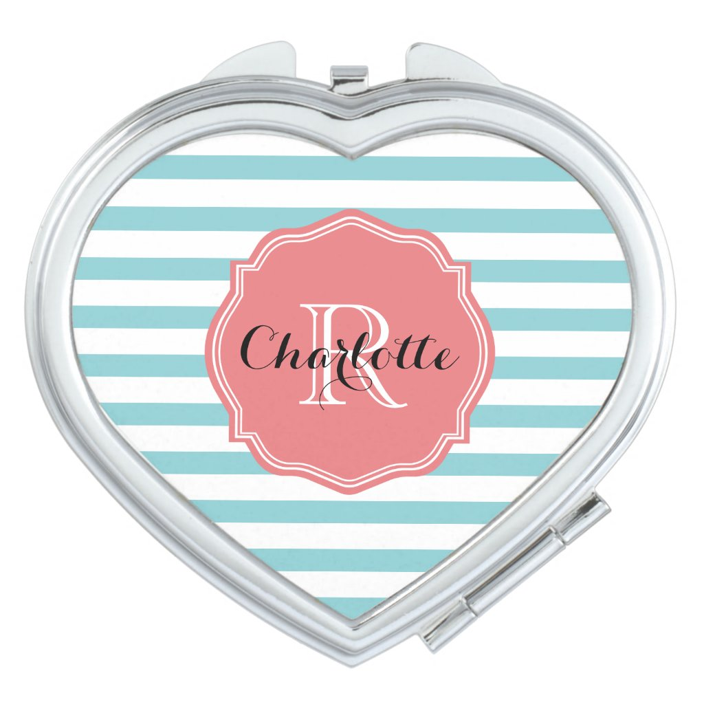 Mint Turquoise Stripes Personalised