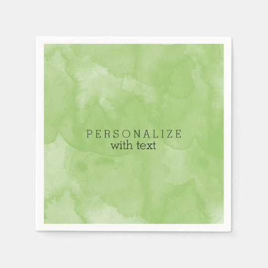Mint Watercolor Disposable Serviette