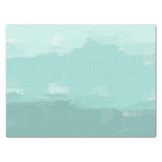 Mint Watercolor Ombre Tissue Paper