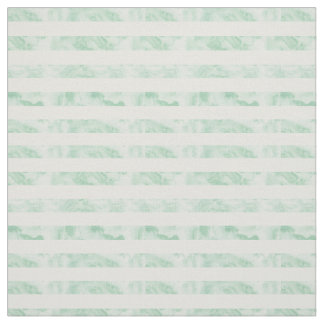 Mint Watercolor Stripes Fabric
