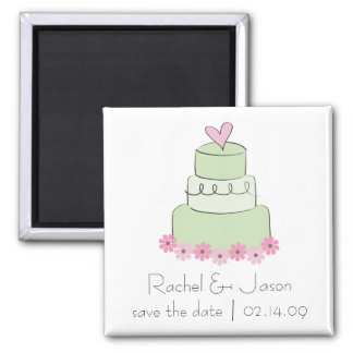 Mint Wedding Cake | Save the Date Magnet