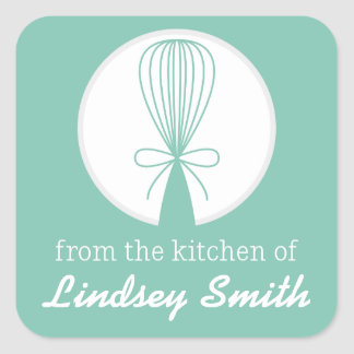 Mint Whisk Silhouette Kitchen Labels