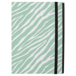 Mint White Zebra Print