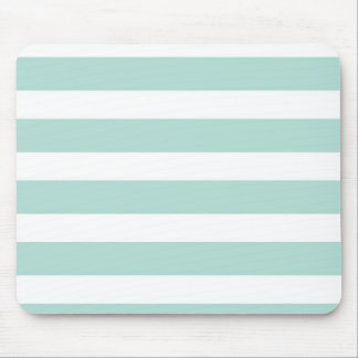 Mint Wide Stripe Mousepad
