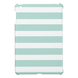 Mint Wide Stripes Cover For The iPad Mini