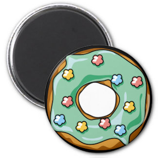 Mint with Star Sprinkles Donut Magnet