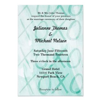"Mint XOXO 5"" X 7"" Invitation Card"