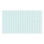 Mint Yarn Chevrons Knit Pattern Customisable