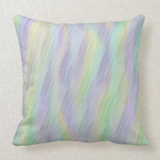 Mint Yellow Lilac Abstract Cushion