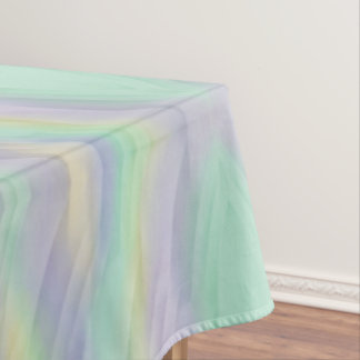 Mint Yellow Lilac Abstract Geometric Tablecloth