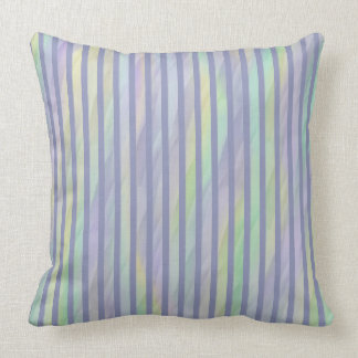 Mint Yellow Lilac Abstract Stripe Cushion