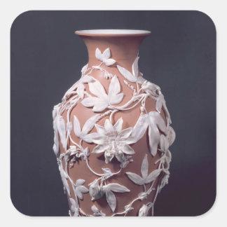 Minton Parian Ware vase, 1894 Square Stickers