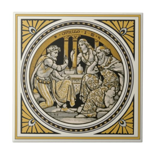Minton Shakespeare Othello Tile by John Moyr Smith