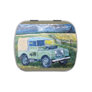 Mints: Green & Blue Truck Cab. Candy Tins
