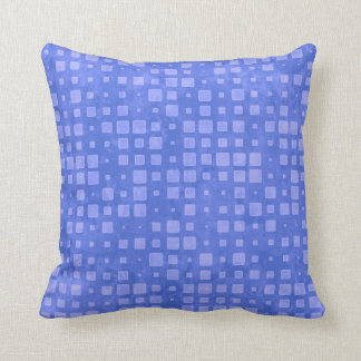 Minty Blue Squares Pattern Cushion