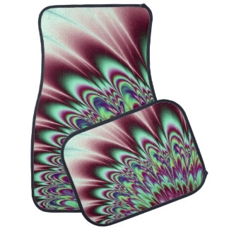 Minty Green Purple Bloom Car and Truck Mats Floor Mat