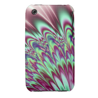 Minty Green Purple Bloom iPhone 3 Covers