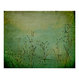Minty Green Sky Poster