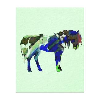 Minty Pony Canvas Print  - Horse Wall Art