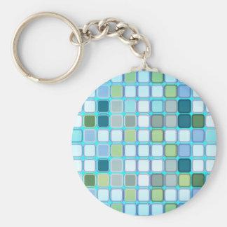 Minty tiles keychain