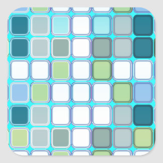 Minty tiles stickers