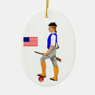 Minute Man Christmas Ornament