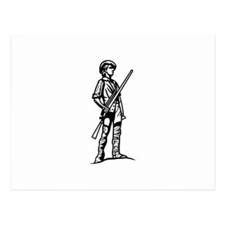 Minuteman Outline Postcard