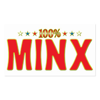 Minx Star Tag Pack Of Standard Business Cards