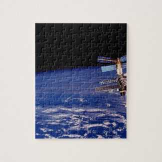 Mir Space Station floating above the Earth Jigsaw Puzzle