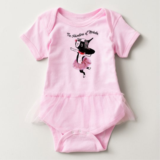 Mirabelle the boston terrier baby tutu ballerina baby
