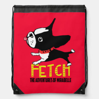 Mirabelle the boston terrier FETCH backpack