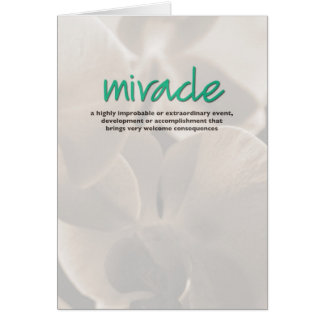 Miracle Definition Inspiration Card