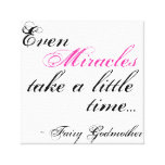miracle Fairy Godmother quote canvas Gallery Wrap Canvas