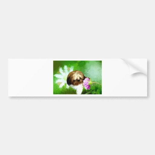 miracle of a flower_PAINTING.jpg Bumper Stickers