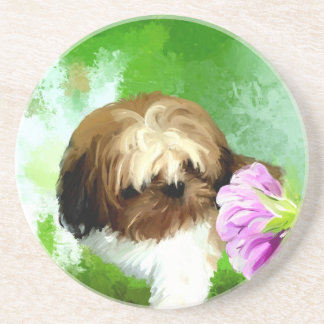 miracle of a flower_PAINTING.jpg Coaster