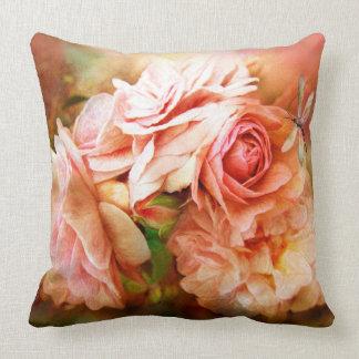 Miracle Of A Rose - Peach - Art Designer Pillow Cushion