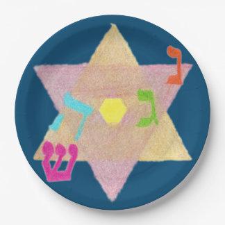 Miracle of Hanukkah Remembrance Paper Plates