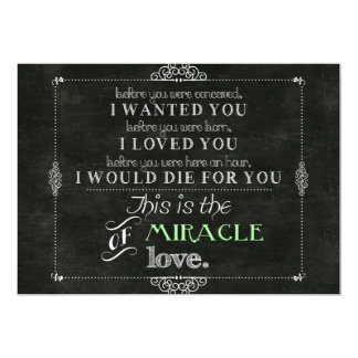 Miracle of Love 13 Cm X 18 Cm Invitation Card