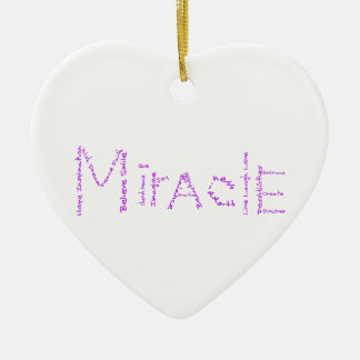 Miracle - Purple - February's WoW Ceramic Heart Decoration