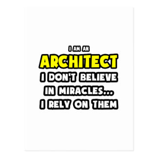 Miracles and Architects ... Funny Postcard