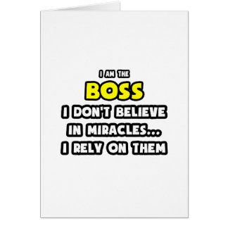 Miracles and Bosses Funny Cards