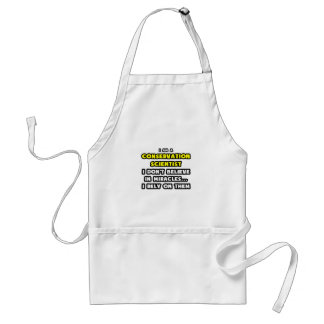 Miracles and Conservation Scientists ... Funny Apron