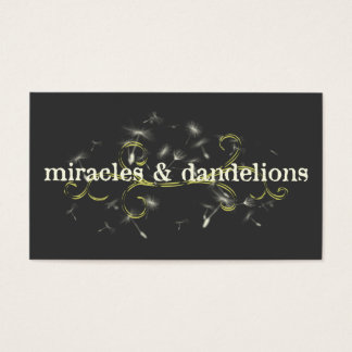 miracles and dandelions business card