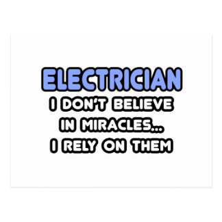 Miracles and Electricians Postcard