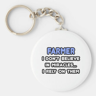 Miracles and Farmers Basic Round Button Key Ring