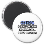 Miracles and Grandpas Refrigerator Magnet