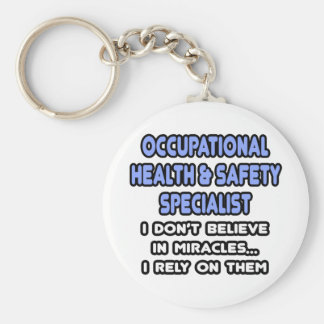 Miracles and Occ Health and Safety Specialists Basic Round Button Key Ring