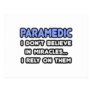 Miracles and Paramedics Postcard